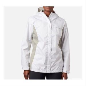 Columbia Arcadia Casual Rain Jacket White NWT 3X